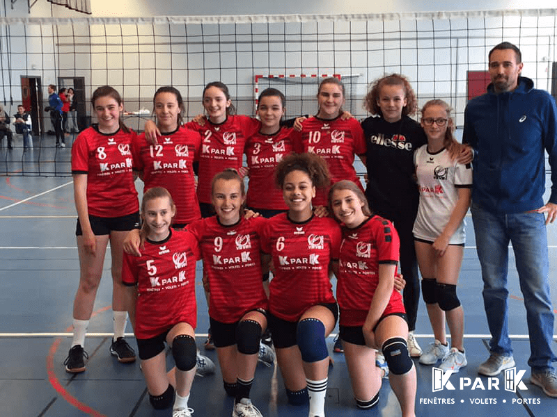 photo d'equipe volley club villefranche beaujolais